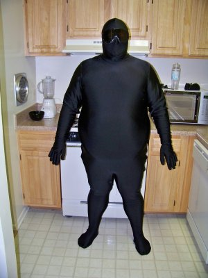 Black zentai on July 1, 2008