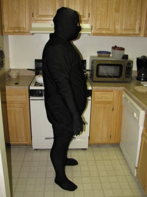 Black zentai on September 9, 2011