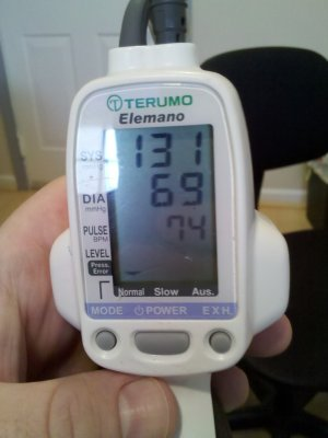 Look at that diastolic pressure. That's awesome.