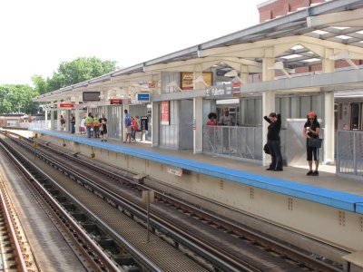 View of outbound platform at Fullerton