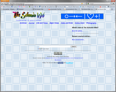 Schumin Web main page, empty