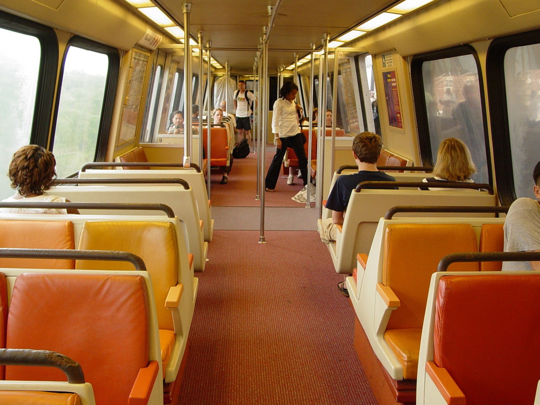 The Schumin Web 187 Metro Cars With Black Floors Wool Seats
