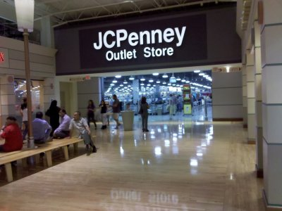 Signage on the JCPenney Outlet store