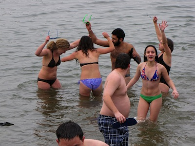 "Scene from 2011's ""Keep Winter Cold"" polar bear plunge"