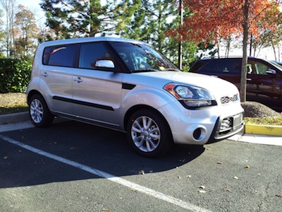 The Kia Soul that I test drove