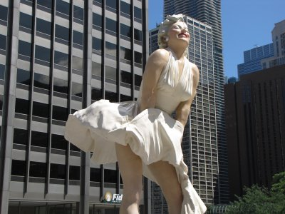 The Marilyn Monroe sculpture