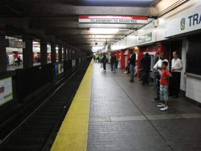 Downtown Crossing, a Red Line station on the MBTA