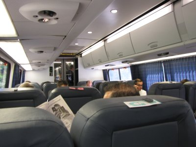 The view of the Acela Express from my seat