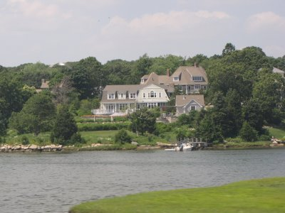 A gorgeous waterfront house, somewhere in eastern Connecticut.