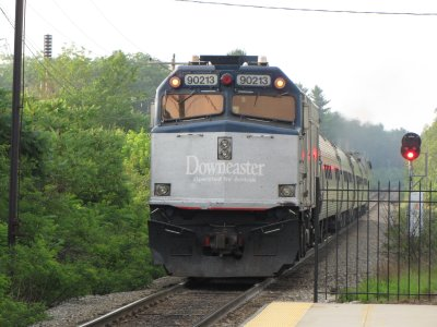 And goodbye to the Downeaster, as it continued on its run to Portland, Maine.