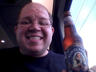 And then on the train from New York, I had a little happy hour on the train, enjoying an adult beverage.