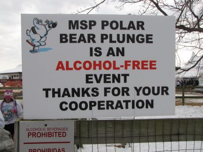MSP POLAR BEAR PLUNGE IS AN ALCOHOL-FREE EVENT