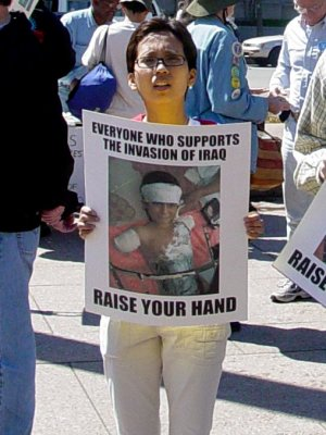 """One particular photo as run in the """"A Protest Against the War"""" photo set"""