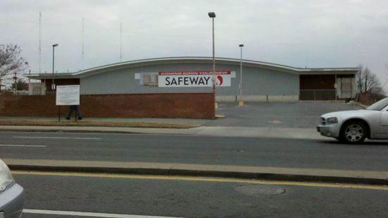 The board-up on Safeway in Wheaton, seen here on January 25, 2011