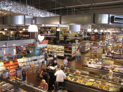 Inside the Lincoln Park Whole Foods store