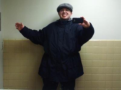 Wearing my winter coat on Friday