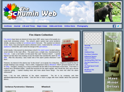 Fire Alarm Collection main page in Odds and Ends
