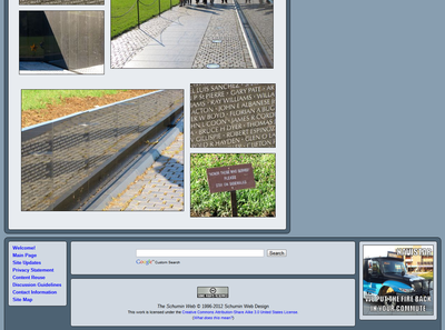 Bottom of Vietnam Memorial photo set, showing page footer.