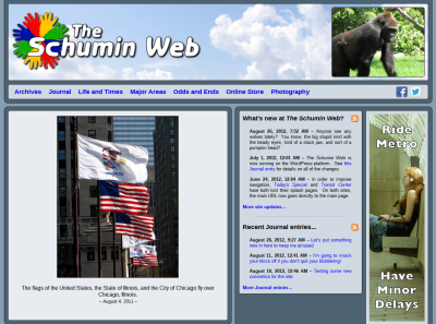Main Page with vertical photo feature