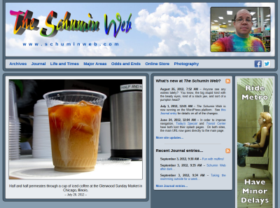 The Schumin Web's new design