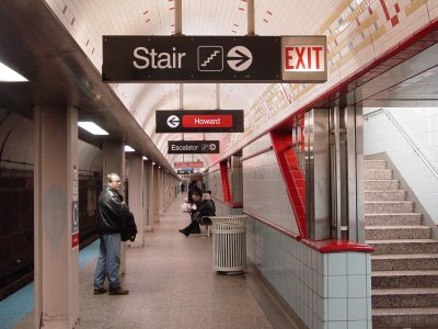 Chicago station on the CTA Red Line