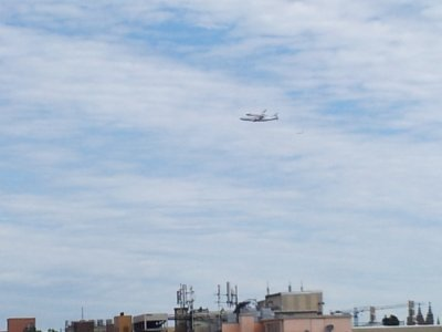 Discovery flies over areas to the north of Dupont Circle.