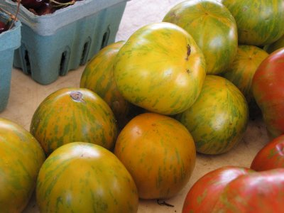 Heirloom Green Zebra tomato