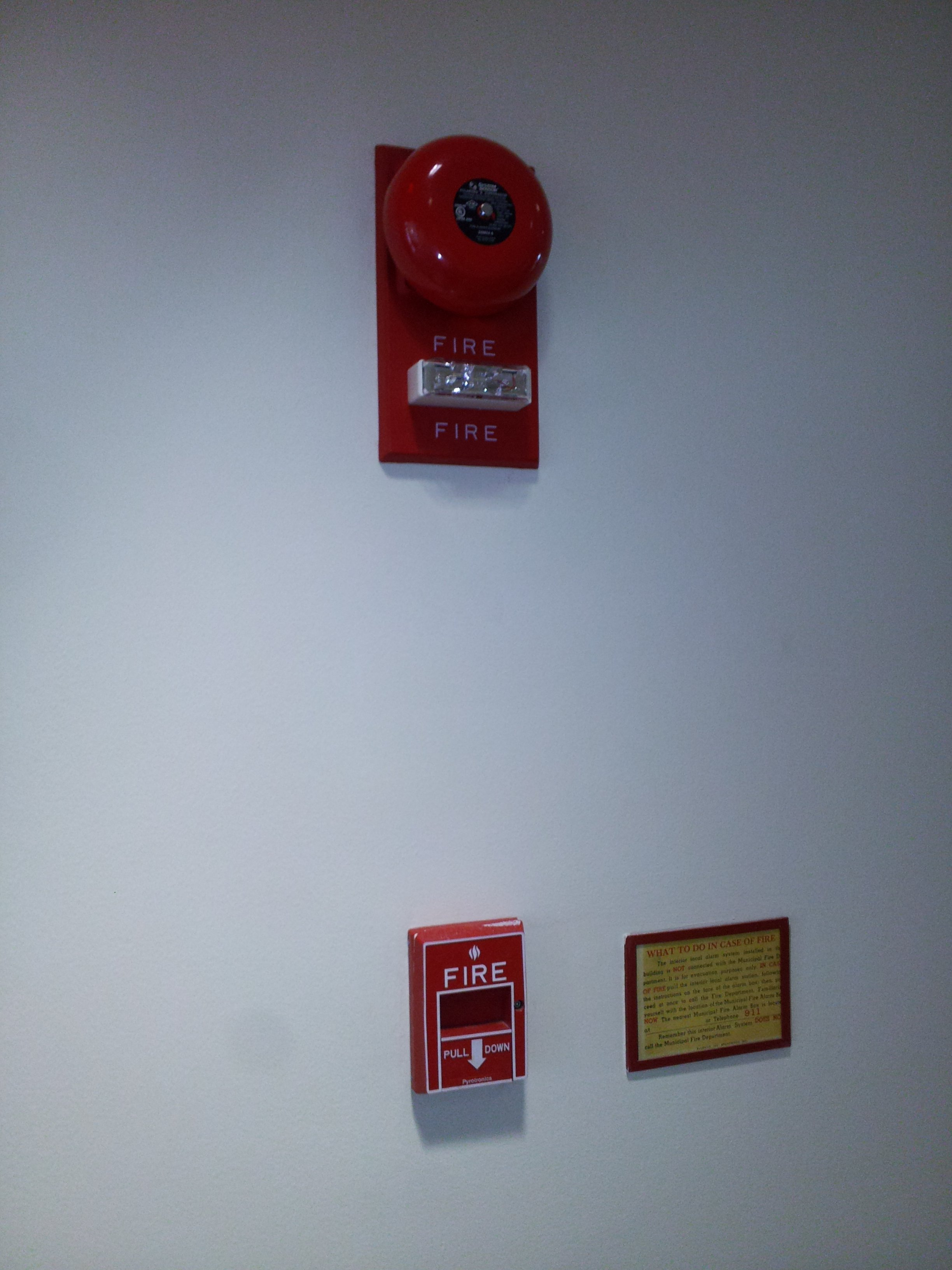 The Schumin Web 187 New Fire Alarms At Work Again