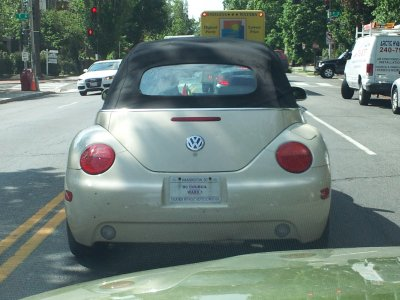 Jim Graham's Volkswagen Bug convertible.