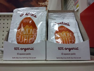 Justin's Maple Almond Butter: 93% organic!