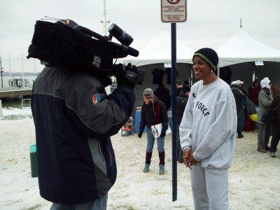 Donna Edwards is interviewed