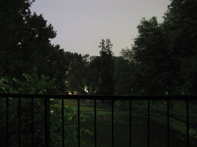 After having adjusted the exposure settings, this is what I got.  Now it looks a little more like nighttime, but again, that sky lighting is all lightning.