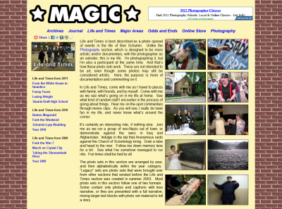 Life and Times main page