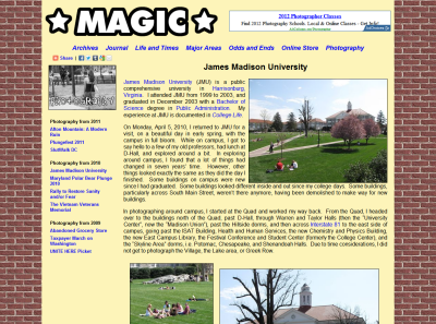 James Madison University Photography set