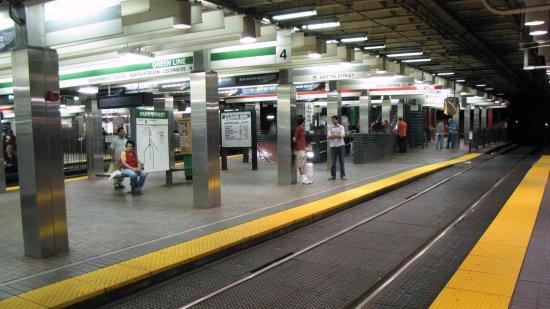 MBTA Park Street station, Green Line platform