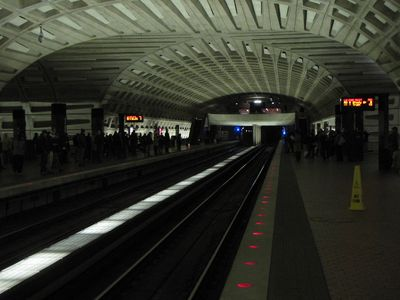 Metro Center upper level, January 8, 2011