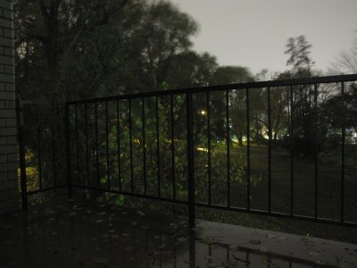 View off my balcony during Hurricane Sandy