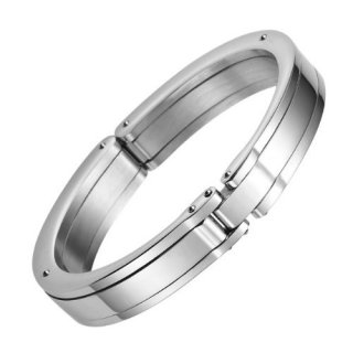 Men's Massive Solid Stainless Steel Handcuff Bracelet Bangle Jewelry