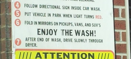The car wash sign at Sheetz in Fishersville
