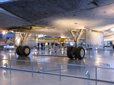 The underside of Discovery.