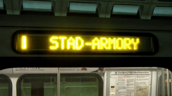 Yellow Line to Stadium-Armory