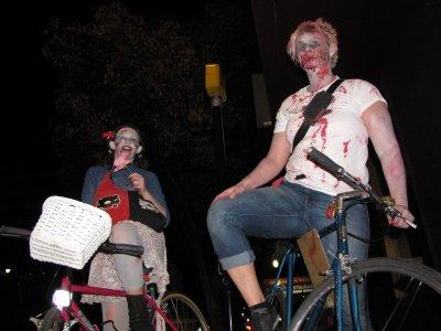 Zombies on bikes.