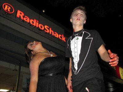 Zombie prom couple.  As you can tell, I was really getting into doing upward shots this particular evening.