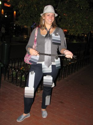 "She went as ""Fifty Shades of Grey"", which I've heard described as ""mommy porn""."