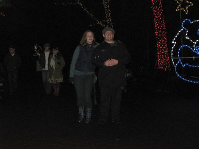And finally, here's Melissa and me at ZooLights.