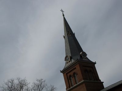 Steeple of St. Anne's Episcopal Church.