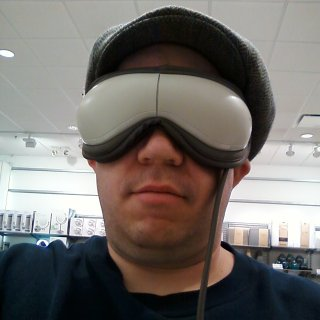 The eye massager.  I look like an idiot in this, don't I?