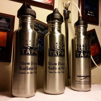 "My ""Take Back the Tap"" water bottles"