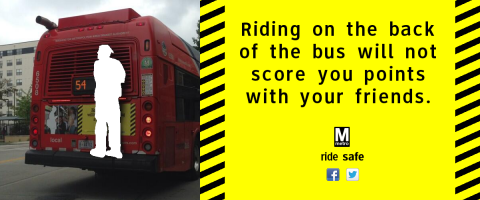 """Riding on the back of the bus will not score you points with your friends."""