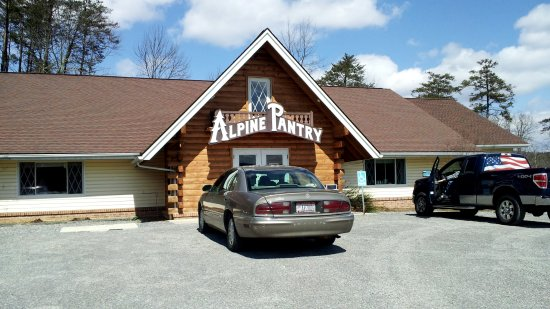 Exterior of Alpine Pantry